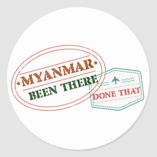 Myanmar dort getan dem runder aufkleber