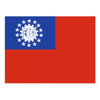 Myanmar-Flagge 1974-2010 Postkarte