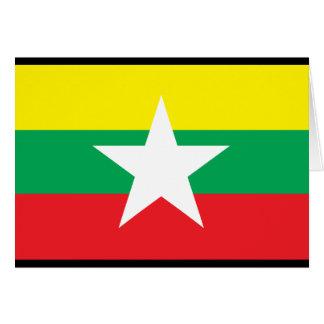 Myanmar-Flagge Karte
