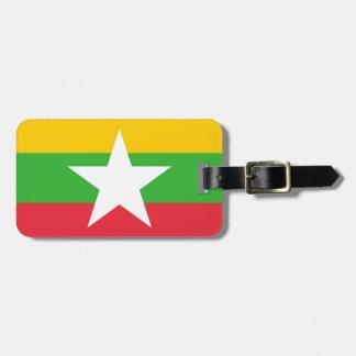 Myanmar-Flagge Kofferanhänger