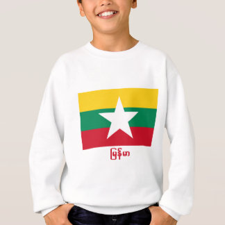 Myanmar-Flagge mit Namen auf Birmane Sweatshirt