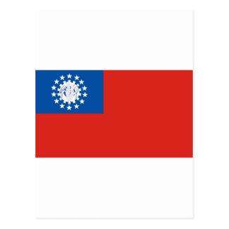 Myanmar-Flagge Postkarte