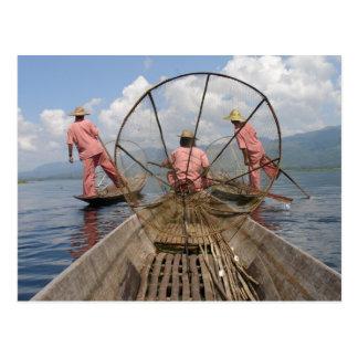 Myanmar-Lebensstil Postkarte