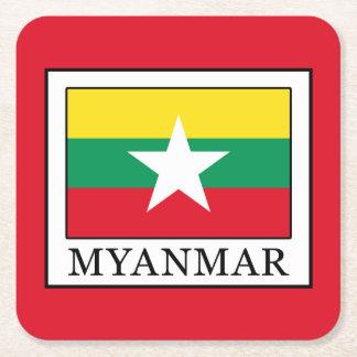 Myanmar Rechteckiger Pappuntersetzer