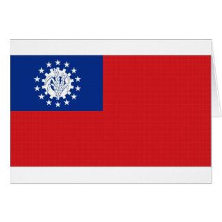 Myanmar-Staatsflagge Karte