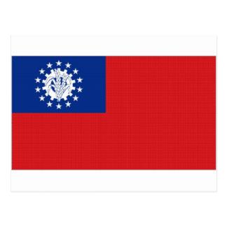 Myanmar-Staatsflagge Postkarte