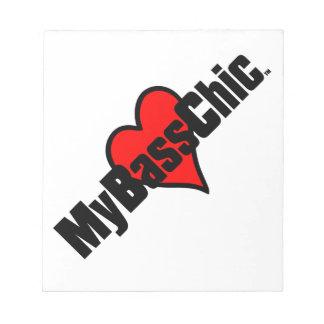 MyBassChic (TM) hochrotes Herz Notizblock