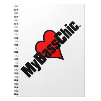 MyBassChic (TM) hochrotes Herz Spiral Notizblock