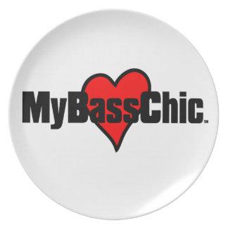 MyBassChic (TM) hochrotes Herz Teller
