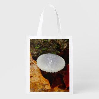 Mycena stylobates Pilz-wiederverwendbare Tasche Wiederverwendbare Einkaufstasche