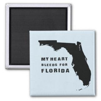 Mye hweart blutet für Florida nach Hurrikan Irma Quadratischer Magnet
