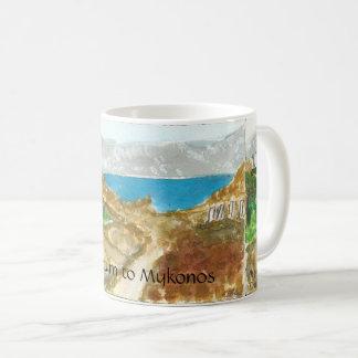 Mykonos Ansicht von Delos nahe heiliger See-Tasse Kaffeetasse
