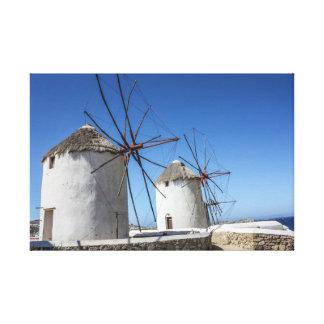 Mykonos Fotos: Windmühlen Leinwanddruck