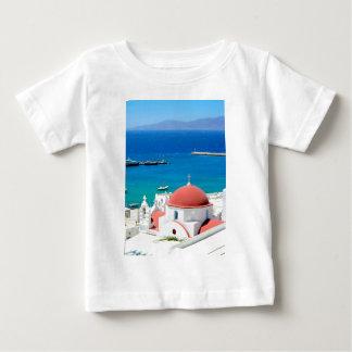 Mykonos griechischer Insel-Gipfel Baby T-shirt