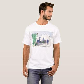 Mykonos Laki quadratische Ansicht über einen T - T-Shirt