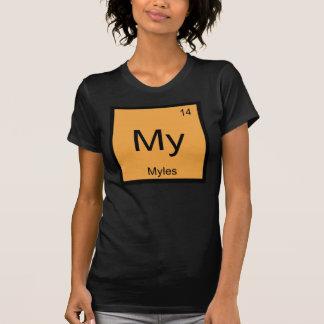 Myles Namenschemie-Element-Periodensystem T-Shirt