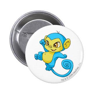 Mynci Blau Runder Button 5,7 Cm