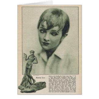 Myrna Loy 1925 Karte