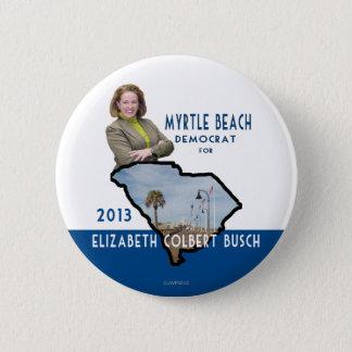 Myrtle Beach Demokrat für Elizabeth Colbert Busch Runder Button 5,7 Cm