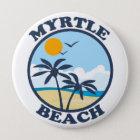Myrtle Beach. Runder Button 10,2 Cm