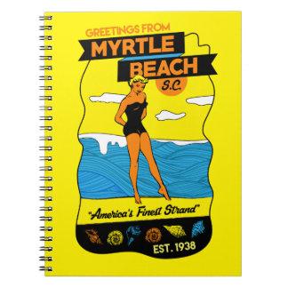 Myrtle- Beachpostkarte Spiral Notizblock