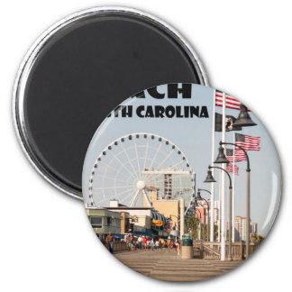 Myrtle- Beachpromenaden-South- Carolinaferien Runder Magnet 5,7 Cm