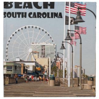 Myrtle- Beachpromenaden-South- Carolinaferien Stoffserviette