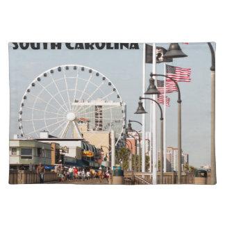 Myrtle- Beachpromenaden-South- Carolinaferien Stofftischset