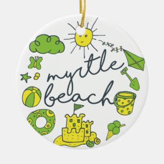 Myrtle- Beachskript Keramik Ornament