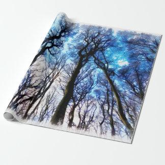 Mysteriöse Bäume Geschenkpapier