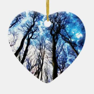 Mysteriöse Bäume Keramik Ornament
