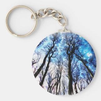 Mysteriöse Bäume Schlüsselanhänger