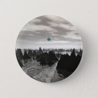 Mysteriöse blaue Kugeln Runder Button 5,7 Cm