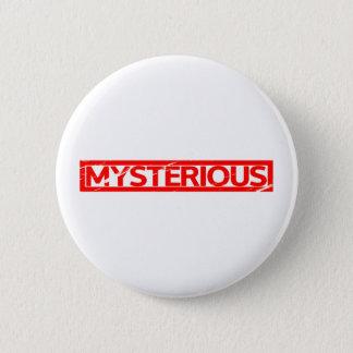 Mysteriöse Briefmarke Runder Button 5,1 Cm
