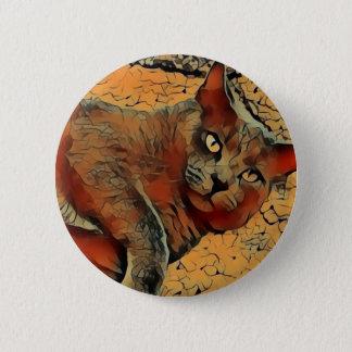 Mysteriöse Katze Runder Button 5,1 Cm