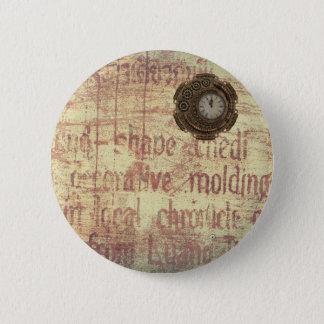 Mysteriöse Uhr Runder Button 5,7 Cm