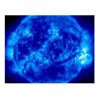 Mysteriöser blauer Sun Postkarte