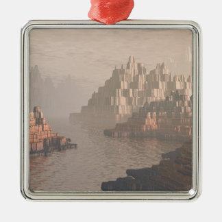 Mysteriöser Schlucht-Fluss Silbernes Ornament