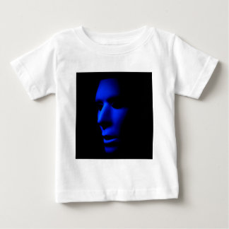 Mysteriöses alien-gespenstisches Gesicht in Baby T-shirt