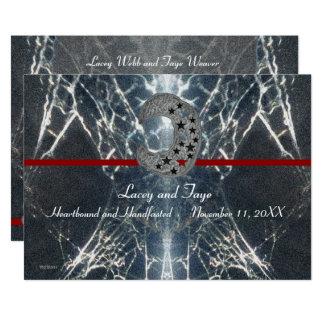 Mysteriöses Netz Goth gotisches schwarzes rotes Karte