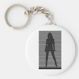 Mysteriöses weibliches Sihouette Schlüsselanhänger