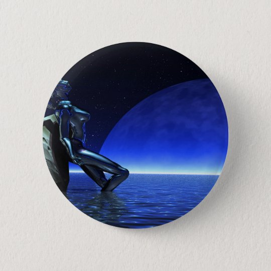 Mystic woman before blue moon runder button 5,7 cm