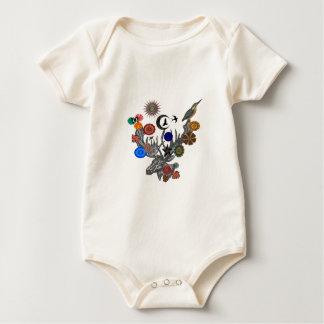 MYSTISCH IN DER NATUR BABY STRAMPLER