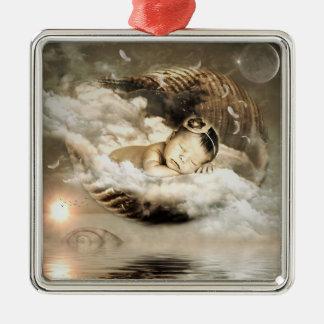 Mystische Baby-Märchen-Verzierung Silbernes Ornament