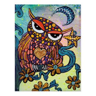 Mystische Eule Postkarte