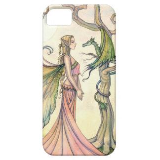 Mystische Fee-und Drache-Fantasie-Kunst iPhone 5 Hülle
