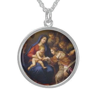 Mystische Heirat von St. Catherine Sterling Silberkette