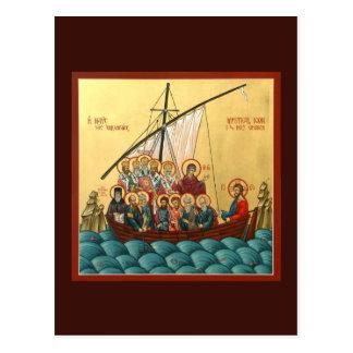 Mystische Ikone der heiligen Kirchen-Gebets-Karte Postkarte