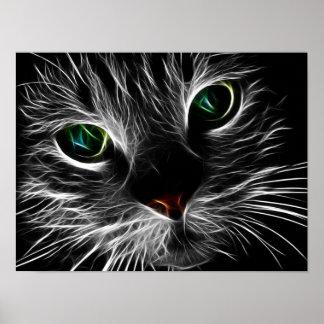 Mystische Katze Poster