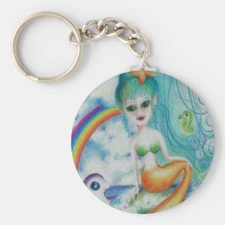 Mystische magische Meerjungfrau Schlüsselanhänger